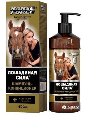 Caballos de fuerza. Champú acondicionador para todo tipo de cabello, 500 ml.