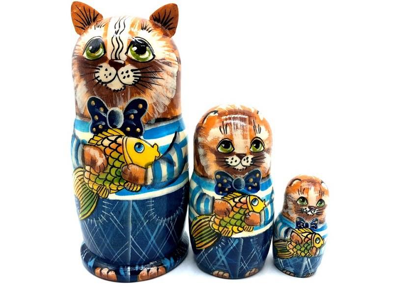 "Muñeca rusa Gato-pescador"", 12 cm"