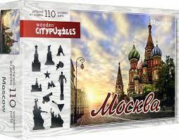 "Puzzle de madera figurada ""Moscú"", 110 piezas"