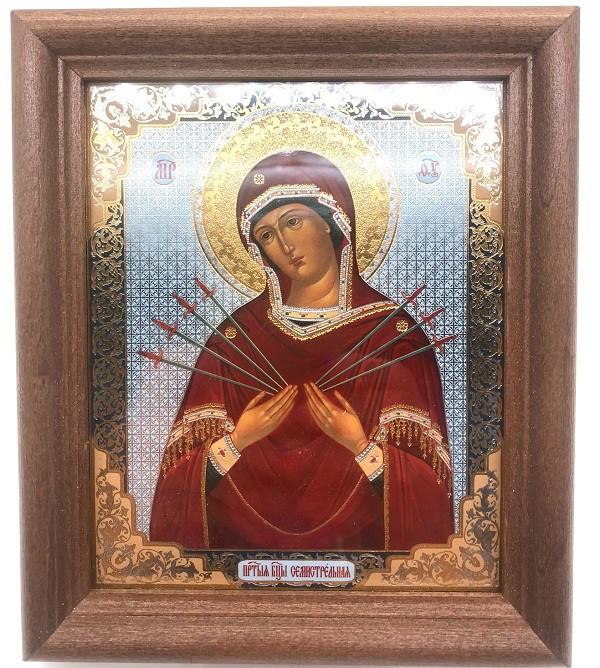 Icono La señora de siete espadas, 13*15 cm