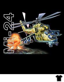 """Camiseta """"Mi-24 Helicopter"""""""