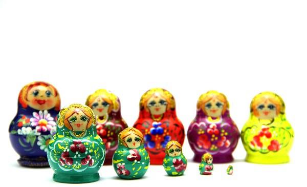 Muñecas rusas mini, 5 piezas