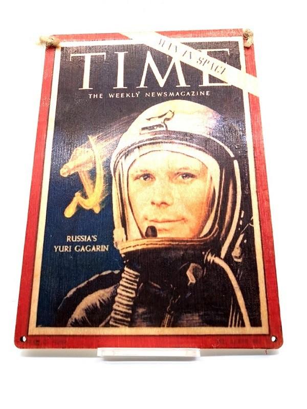 "Placa de madera ""Yuryi Gagarin"""