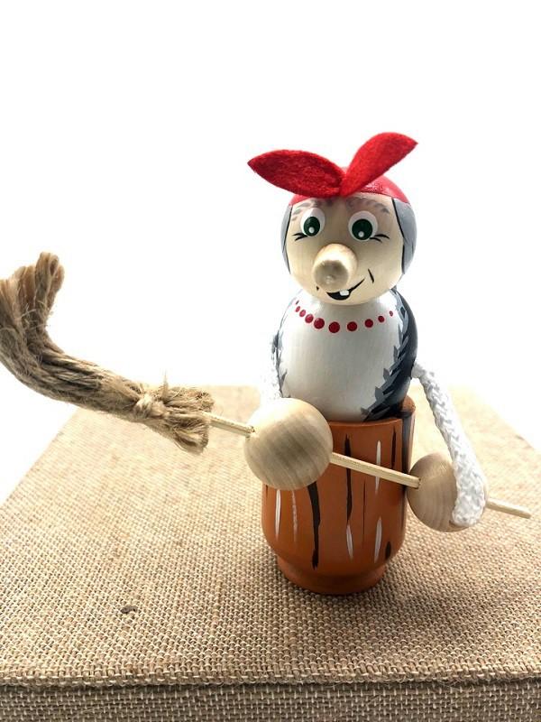 "Juguete de madera ""Baba Yaga"", 12 cm"