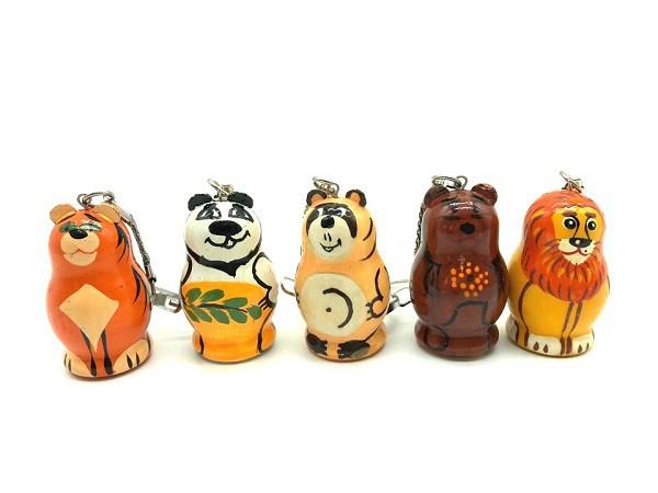 """Llaveros """"Animales"""", 4 cm"""