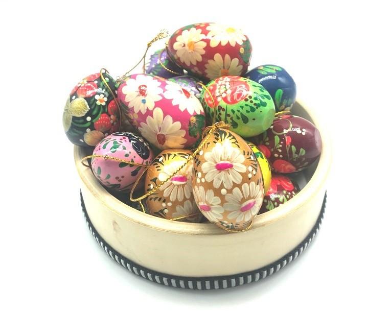 """Huevo de Pascua pintado, """"Flores"""""""