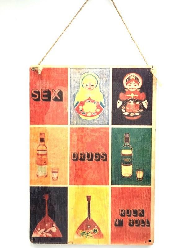 """Placa de madera """"Rusia"""""""