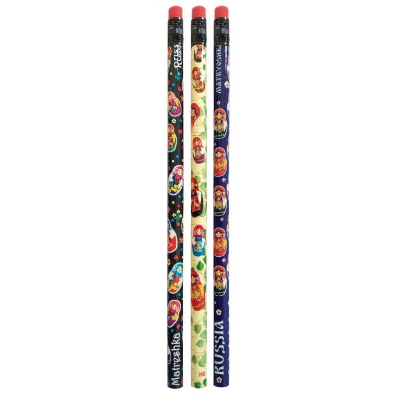 Lápices simples, 3 piezas