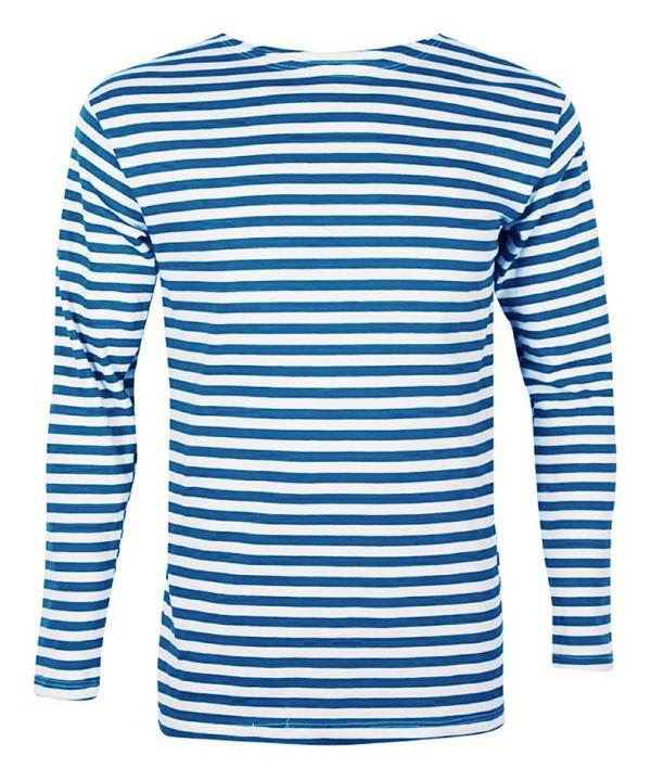 Camiseta marinera de manga larga, algodón