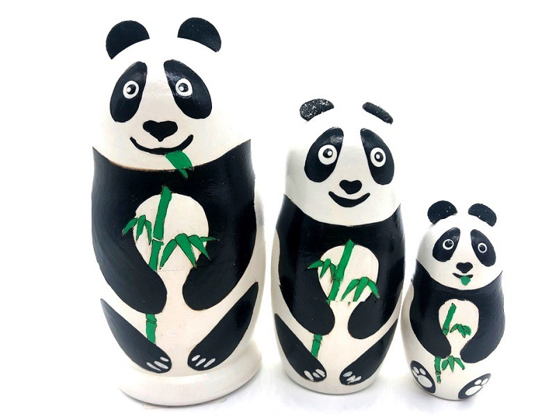 Matrioska Panda de 3 piezas