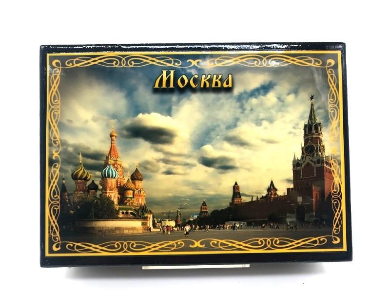 Caja lacada Monumentos de Moscu, 10*14 cm.