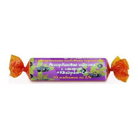 Ácido ascórbico а sabor arándano, 10 piezas