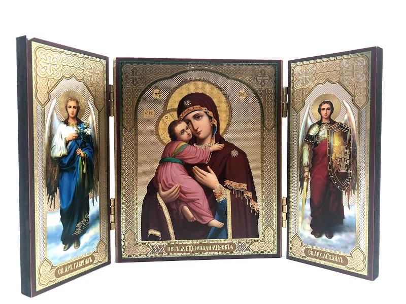 Icono Triptico Vladimirskaya