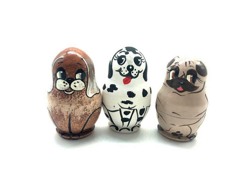 "Matrioshka-mini ""Perritos"", 4 cm"