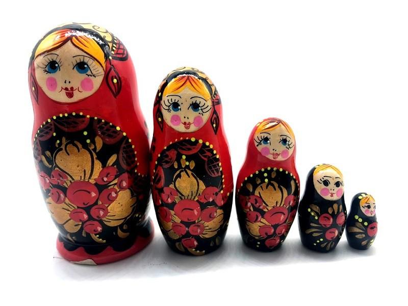 "Muñeca rusa ""Ryabinka"", 5 piezas, 10 cm"