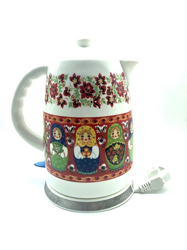 """Hervidor eléctrico """"Matrioshka"""" de cerámica."""