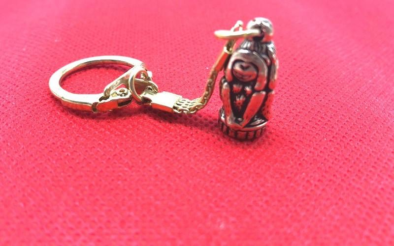 """Llavero """"Tres monos"""", 3 cm, bronce"""
