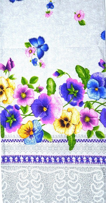 "Toalla-servilleta ""Pensamiento"", lino, tamaño 35:70 cm"