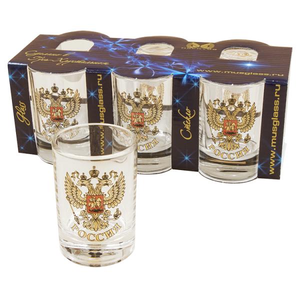 Chupitos con emblema de Rusia, 6 piezas