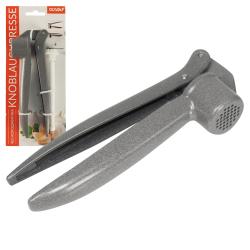 Prensa de ajo (15 cm) + cepillo de limpieza de plástico duro. (12 cm)