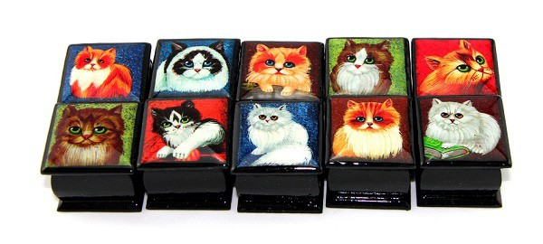 """Cajitas """"Gatos, mini"""