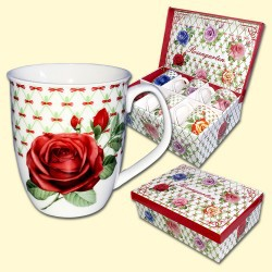"""Juego de tazas """"Rosas"""", 6 und"""