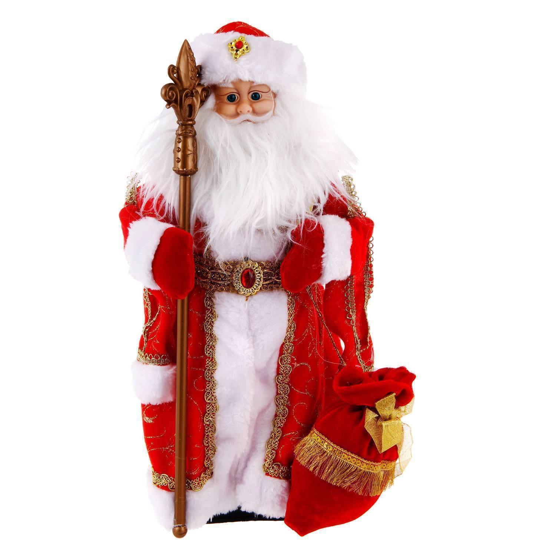 Figura de Papá Noel con caja de regalo