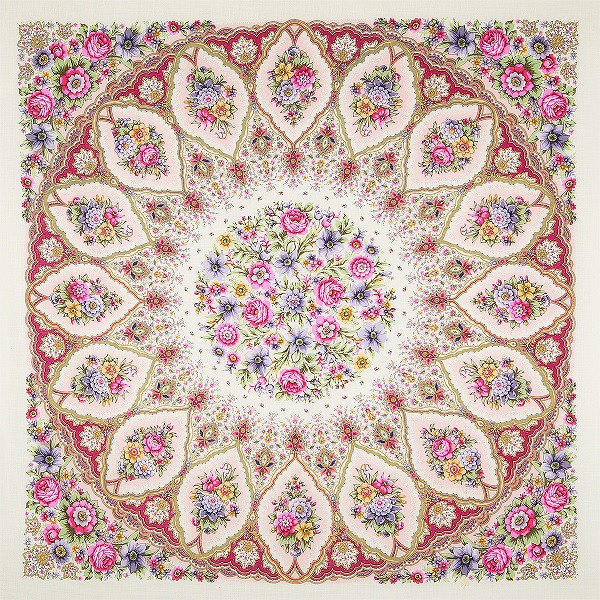 Chal de lana con flecos de seda, 146*146 cm