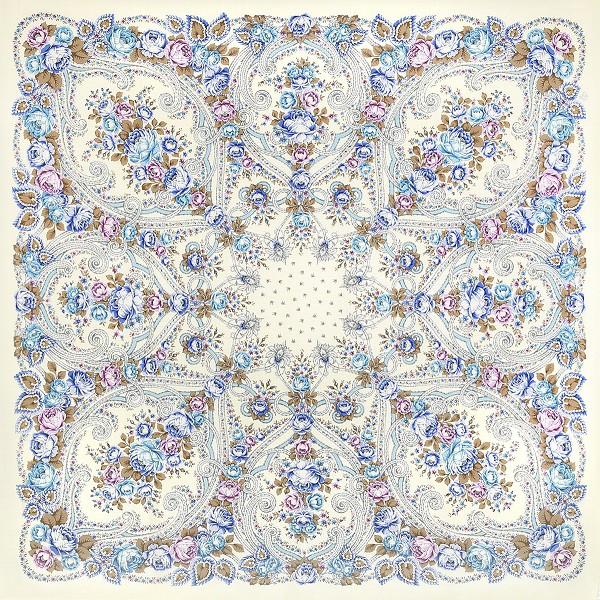 Chal de lana con flecos de seda 148*148 cm
