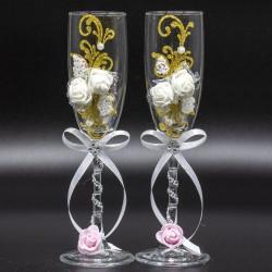 Copas de boda cristal (2ud.)