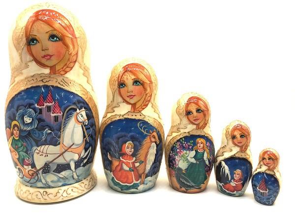 "Muñeca rusa anidada ""Reina de las Nieves"", 20 cm"
