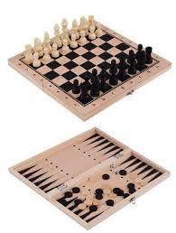 Conjunto de juegos(damas, ajedrez, backgammon) 40*40 cm