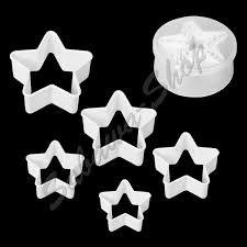 """Moldes para galletas """"Estrellas"""", 5 piezas"""
