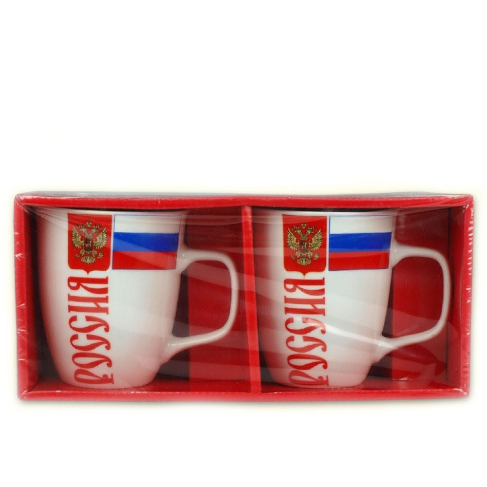"""Tazas """"Rusia"""", 2 und"""