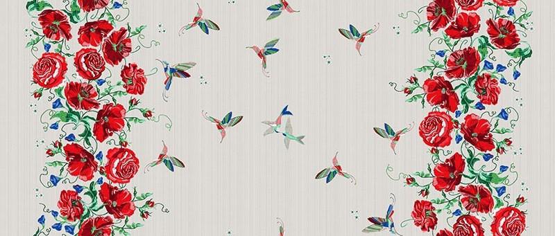"Mantel de lino ""Colibrí"", 110 * 150 cm"