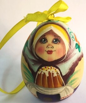Huevo de madera de diseño original