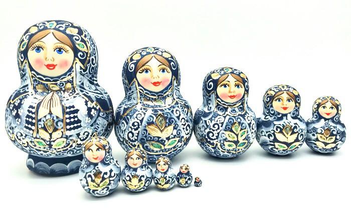 Matrioska , 10 piezas, 13 cm.