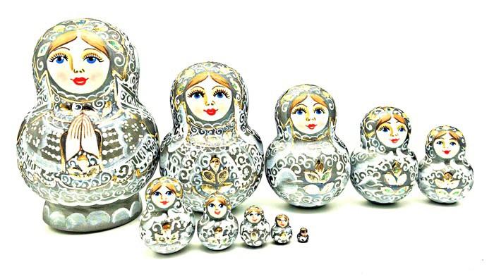 Matrioska, 10 piezas, 20 cm.