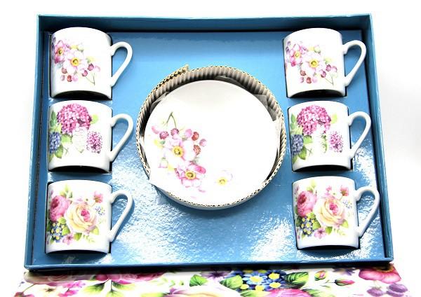 Juego de cafe 6 tazas+6 platos