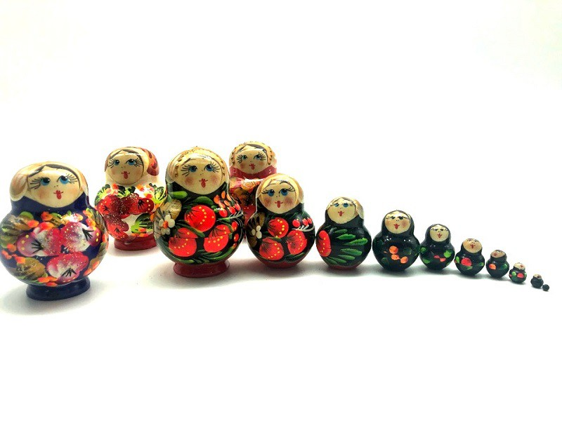 Matrioshka mini, 10 piezas