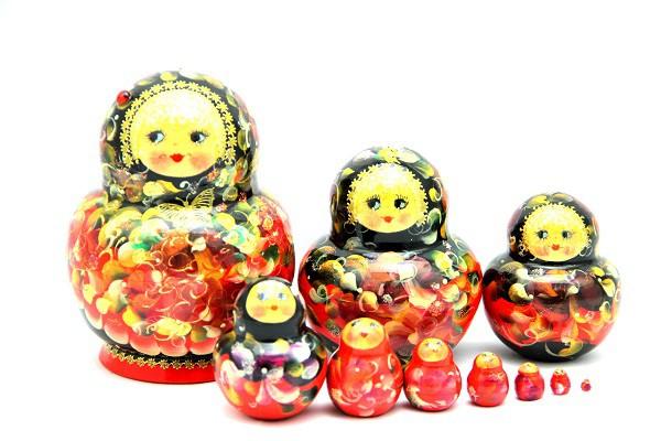 "Muñeca rusa ""Nacar"""", 10 piezas, 14 cm"