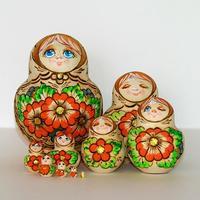 """Matrioska """"Estados de animo"""" 10 piezas 15 cm"""