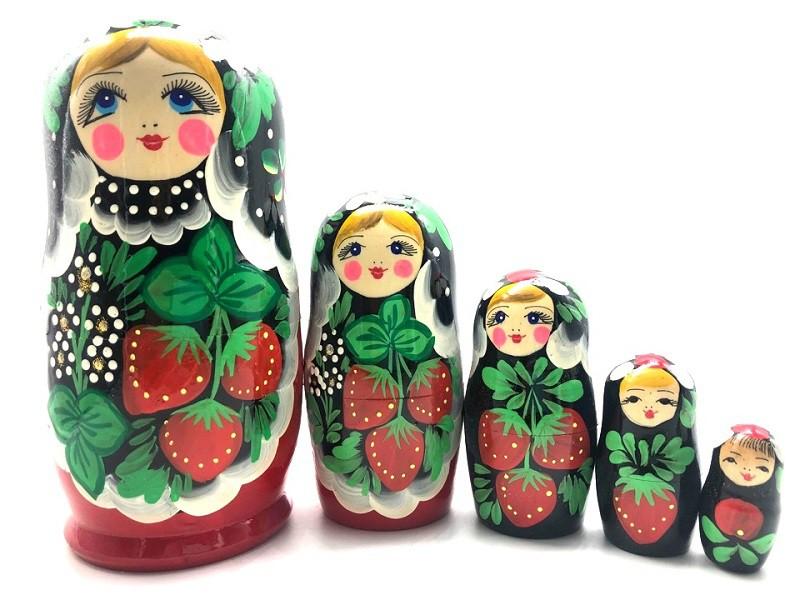 """Matrioska """"Fresas"""" de 5 piezas"""