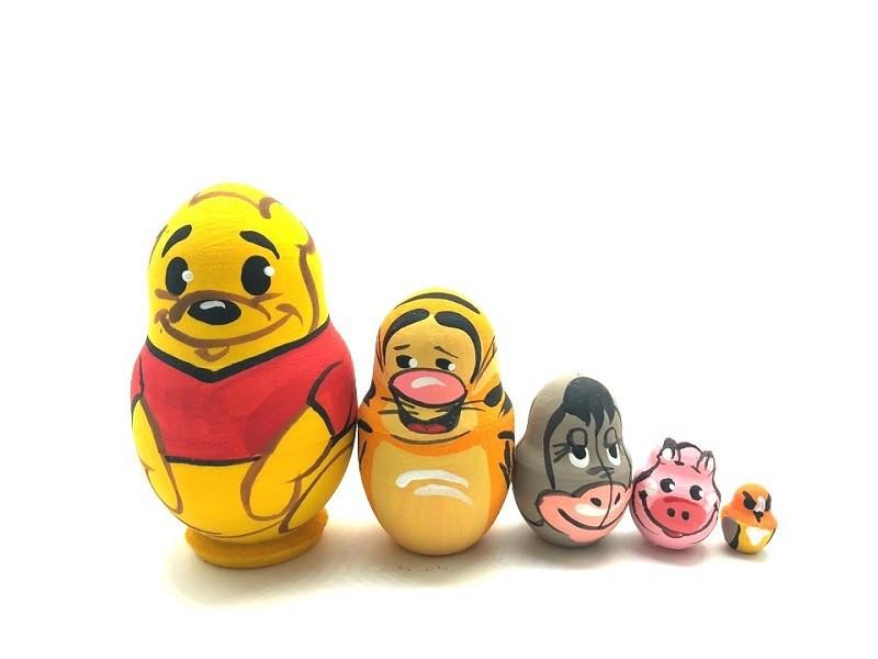 """Matrioshka mini """"Winnie the Pooh"""", 4 cm, 5 muñecas"""