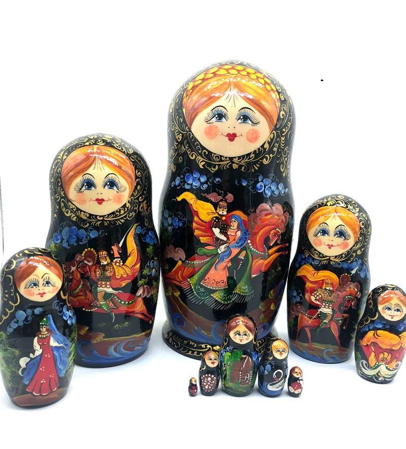 Muñeca rusa Cuentos, 10 piezas