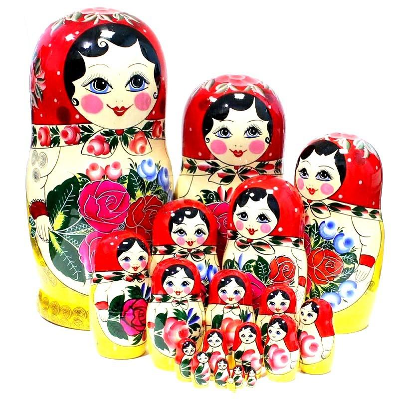 Muñeca rusa Semenovskaya, 20 piezas