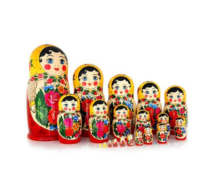 Matrioshka clasica, 25 muñecas