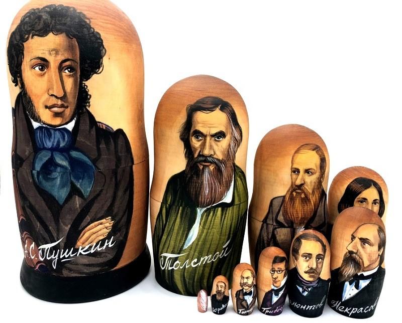 """Matrioska """"Escritores rusos"""""""