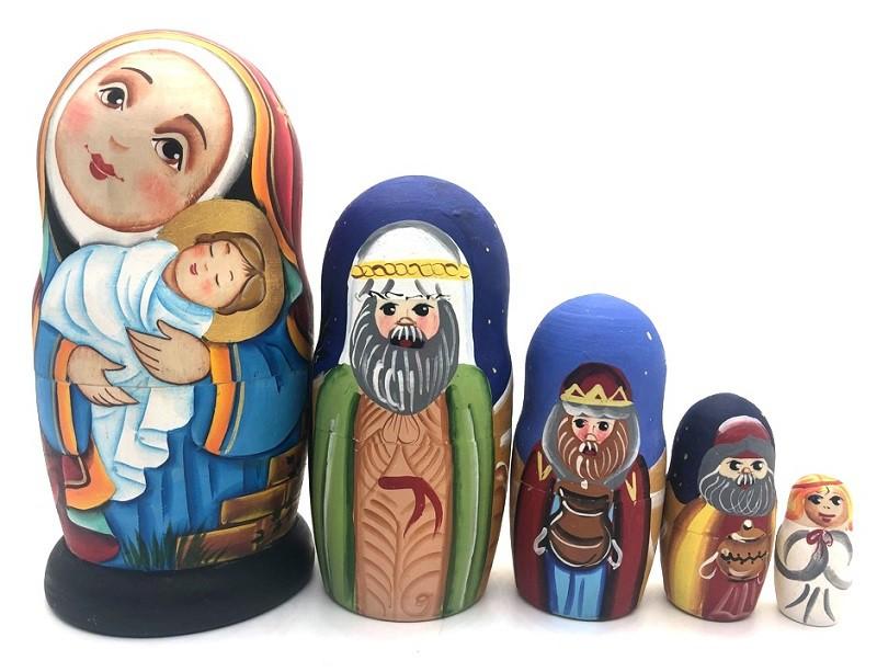"""Muñeca rusa """"Nacimiento"""", 17 cm"""