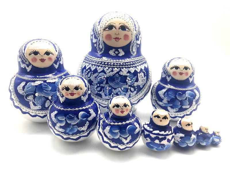 "Muñeca rusa ""Ultramarine"", 10 piezas"